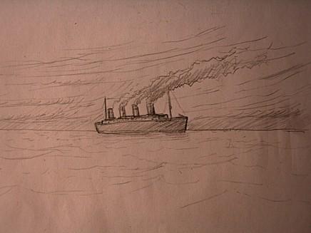 Titanic 2012 le grand d part chez damia bouic for Comment dessiner une chaise