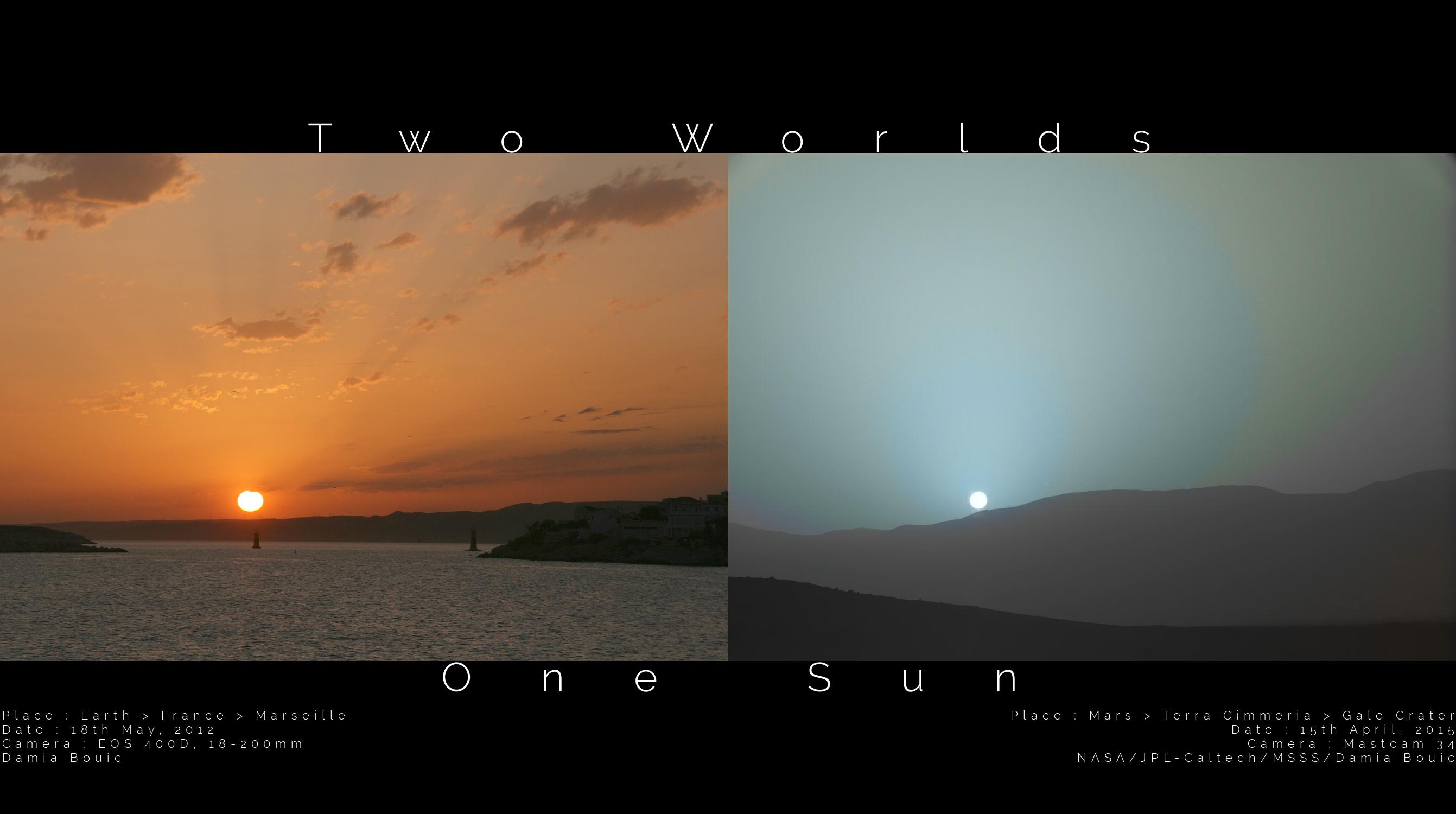 Coucher de soleil sur mars chez damia bouic - Mars sunset wallpaper ...